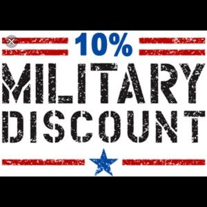Accessories - Military discount for all active duty/veterans.